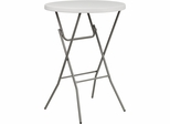 32'' Round Granite White Plastic Bar Height Folding Table  - RB-32RB-BAR-GW-GG