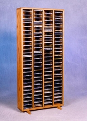 320 CD Solid Oak Storage Tower - 409-4