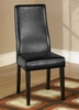 341 Side Chair (Set of 2) in Black Leather - Armen Living - LC341SIESBL-SET
