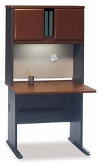 "36"" Desk and Hutch Set - Series A Hansen Cherry Collection - Bush Office Furniture - WC90436A-37"