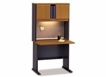 "36"" Desk and Hutch Set - Series A Natural Cherry Collection - Bush Office Furniture - WC57436-37"