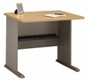 "36"" Desk - Series A Light Oak Collection - Bush Office Furniture - WC64336"