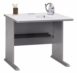 "36"" Desk - Series A Pewter Collection - Bush Office Furniture - WC14536"