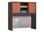 "36"" Hutch in Cornerstone Cherry / Pumice - ProFlex - O'Sullivan Office Furniture - 12613"
