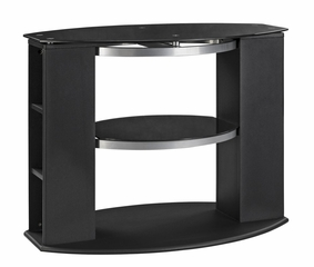 36 Inch TV Stand with Black Glass - Office Star - TV1136BKG