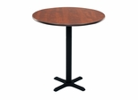 "36"" Rond Caf height Lunchroom Table with Cain Metal ""X"" Base - ROF-TCB36RND"