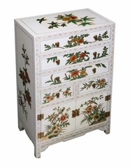 "37"" Chinese Dresser / Cabinet - Seasonal Flowers Design - frc1219"