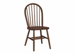 "37"" Windsor High Spindleback Chair with Plain Legs in Cottage Oak - C48-212"