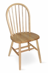 "37"" Windsor High Spindleback Chair with Plain Legs in Natural - C01-212"