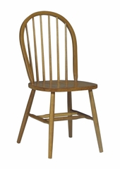 "37"" Windsor High Spindleback Chair with Plain Legs in Oak - C04-212"