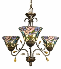 3Lt Crystal Peony Fixture - Dale Tiffany - TH90214