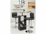 3PC Black Bar Table Set with 2 Stools - 120451