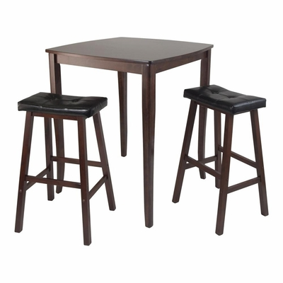 3Pc Inglewood Pub Dining Table Set - Winsome Trading - 94360