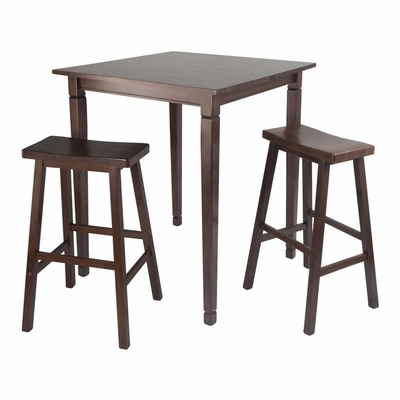 3Pc Kingsgate Pub Dining Set - Winsome Trading - 94300