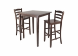 3Pc Kingsgate Pub Dining Set - Winsome Trading - 94369
