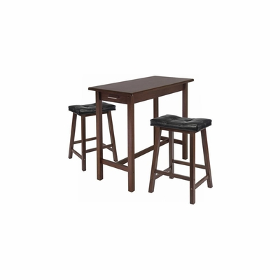 3Pc Kitchen Island Table - Winsome Trading - 94304