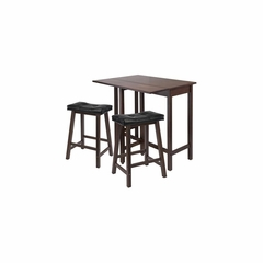 3Pc Lynnwood Kitchen Table Dining Set - Winsome Trading - 94346