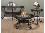 3PC Occasional Table Set in Amelia Pine - 607-2