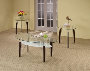 3PC Round Coffee & End Table Set - 701558
