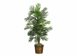 4.5' Areca Palm Silk Tree with Basket in Green - Nearly Natural - 5263-0308
