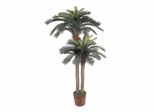 4' and 6' Sago Palm Double Potted Silk Tree in Green - Nearly Natural - 5033