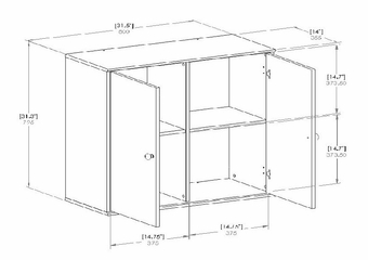 4 Cubby Storage Shelves with Doors - Stor it - South Shore Furniture - 5050773