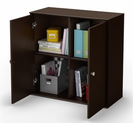 4 Cubby Storage Shelves with Doors - Stor it - South Shore Furniture - 5059773