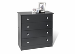 4 Drawer Chest in Black - Prepac Furniture - BBD-3031-4