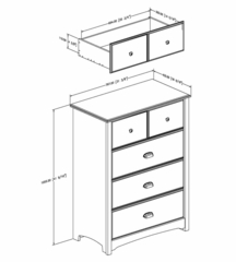 4-Drawer Chest in Havana - Willow - South Shore Furniture - 3339034