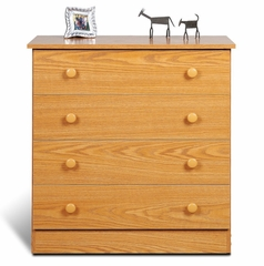 4 Drawer Chest in Oak - Prepac Furniture - OBD-3031-4