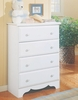4-Drawer Chest in Pearl White - Reflections - New Visions by Lane - 924-318