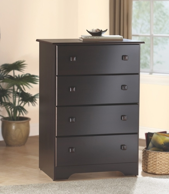 4-Drawer Chest in Walnut - My Space, My Place - New Visions by Lane - 316-317
