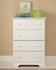 4-Drawer Chest in White - My Space, My Place - New Visions by Lane - 866-317
