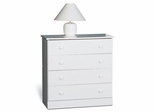 4 Drawer Chest in White - Prepac Furniture - WHD-3031-4