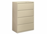 4-Drawer Lateral Filing Cabinet W/Lock - Putty - HON884LL
