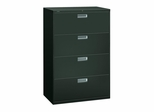 4 Drawer Locking Lateral File Cabinet in Charcoal - HON684LS