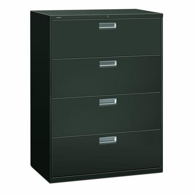 4 Drawer Locking Lateral File Cabinet in Charcoal - HON694LS