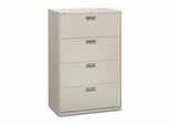 4 Drawer Locking Lateral File Cabinet in Gray - HON684LQ