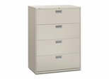 4 Drawer Locking Lateral File Cabinet in Light Gray - HON694LQ
