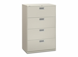 4 Drawer Locking Lateral File Cabinet in Putty - HON684LL