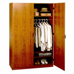 4 Foot Oak Wardrobe Closet - 9155