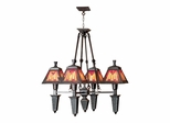 4-Light Sunset Mission Fixture - Dale Tiffany