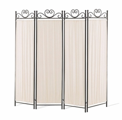 4 Panel Folding Screen in Black / Gold - Coaster - 2710