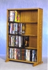 4 Row Dowel 160 Capacity DVD Cabinet Tower - 415-24