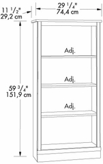 4 Shelf Bookcase Cinnamon Cherry - Sauder Furniture - 408967