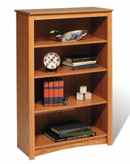 4 Shelf Bookcase in Oak - Sonoma Collection - Prepac Furniture - ODL-3248