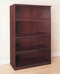 4 Shelf Bookcase in Sierra Cherry - Mayline Office Furniture - VB4CRY