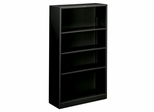 4 Shelf Metal Bookcase - Black - HONS60ABCP