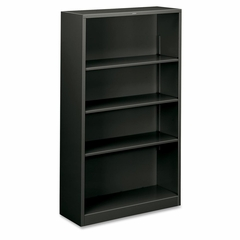 4 Shelf Metal Bookcase - Charcoal - HONS60ABCS