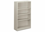 4 Shelf Metal Bookcase - Light Gray - HONS60ABCQ